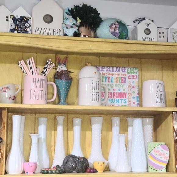 12 pc Vintage Milk Glass Vase Set miss matched